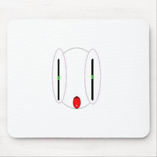 White Alien Mouse Pad
