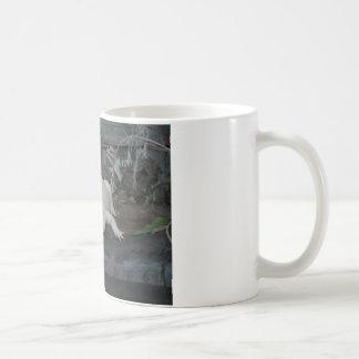 white alligator coffee mug