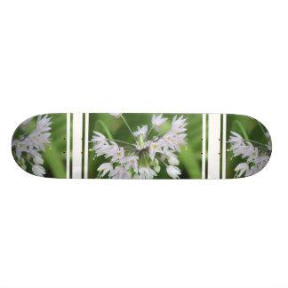 White Allium Custom Skate Board