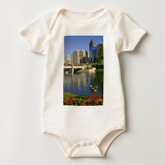 White Along the Bow River, Canada flowers Baby Bodysuits
