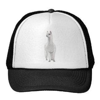 White Alpaca Trucker Hat