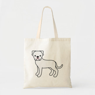 White American Bulldog Drawing Tote Bag
