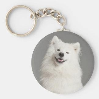 White American Eskimo Puppy Dog Keychain