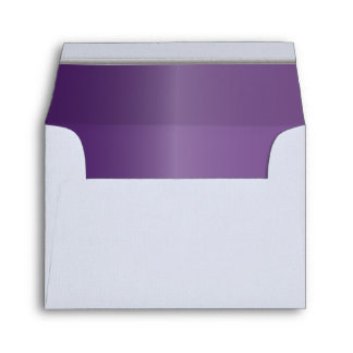 White - Amethyst Purple Lined with Silver Bar Envelope