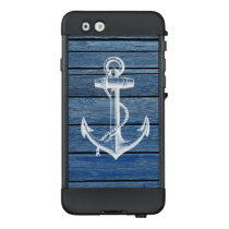 White Anchor And Vintage Blue Wood LifeProof NÜÜD iPhone 6 Case