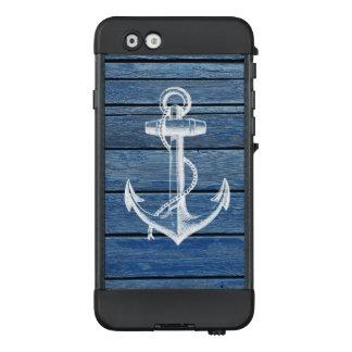White Anchor And Vintage Blue Wood LifeProof NÜÜD iPhone 6 Case