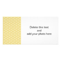 White Anchors Custard Yellow Background Pattern Card