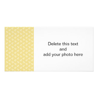 White Anchors Custard Yellow Background Pattern Photo Card