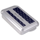 White Anchors Navy Blue Background Pattern Cake Pan