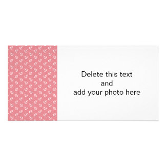 White Anchors Strawberry Background Pattern Photo Card