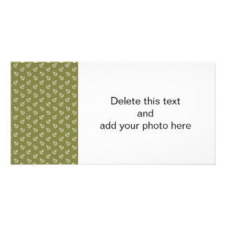 White Anchors Woodbine Green Pattern Card