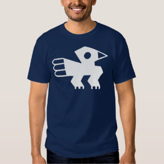 White Ancient Inca Bird Symbol Graphic T Shirt
