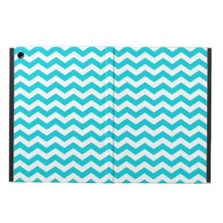 White and Aqua Zig Zag Pattern iPad Air Cases