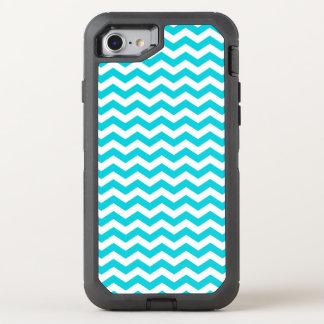 White and Aqua Zig Zag Pattern OtterBox Defender iPhone 8/7 Case