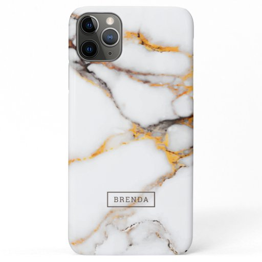 White and beige faux marble texture iPhone 11 pro max case