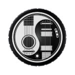 White and Black Acoustic Electric Guitars Yin Yang Candy Tin