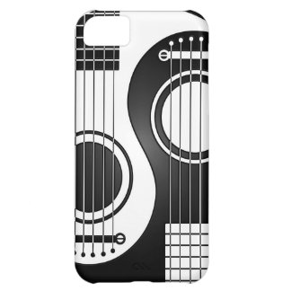 White and Black Acoustic Guitars Yin Yang iPhone 5C Cases