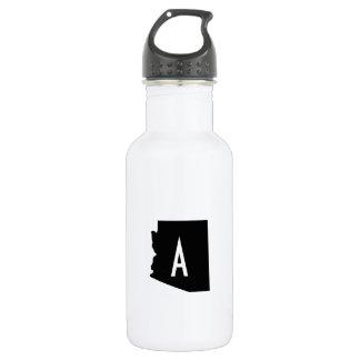 White and Black Arizona Monogram Stainless Steel Water Bottle