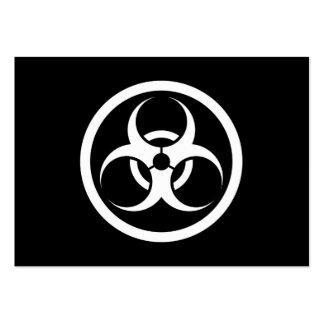 White and Black Bio Hazard Circle Business Card Template