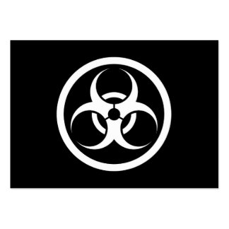 White and Black Bio Hazard Circle Large Business Cards (Pack Of 100)