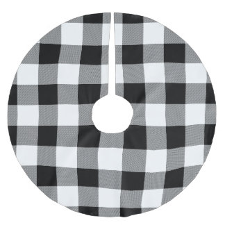 White and Black Buffalo Check - Plaid Tree Skirt
