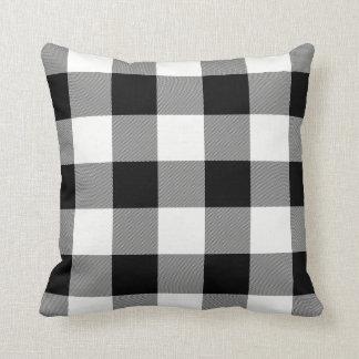 White and Black Buffalo Check Throw Pillow