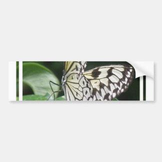 White and Black Butterfly Bumper Sticker Car Bumper Sticker