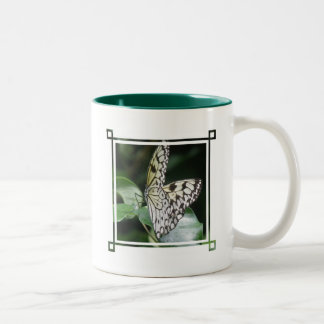 White and Black Butterfly Ceramic Coffee Mug