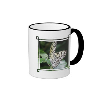 White and Black Butterfly Coffee Mug
