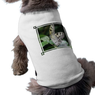 White and Black Butterfly Dog Shirt