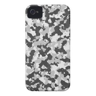 White and Black Camo pattern iPhone 4 Cover