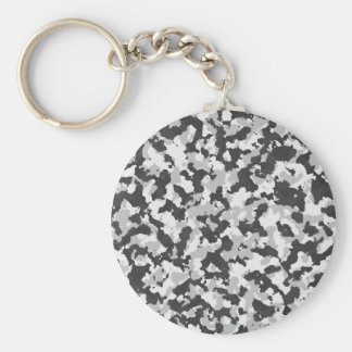 White and Black Camo pattern Keychain