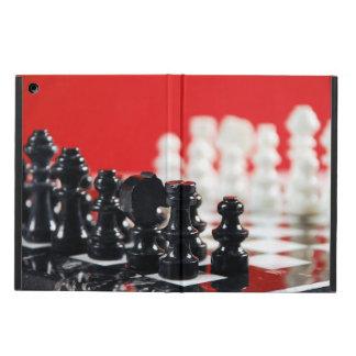 White and black chess set ipad air case