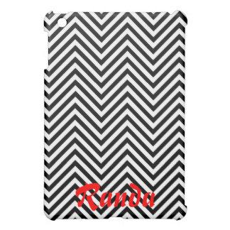 White and Black Chevron iPad Mini Case