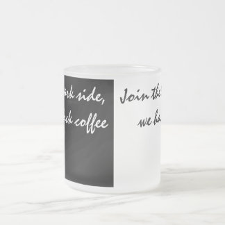 White And Black Coffee Frosted Glass Coffee Mug