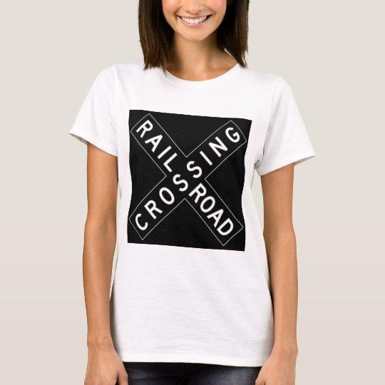 White And Black Crossbuck T-Shirt