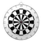 white and black dart boards