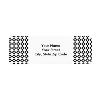 White and Black Diamond Pattern address label