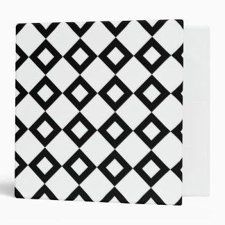 White and Black Diamond Pattern Binder