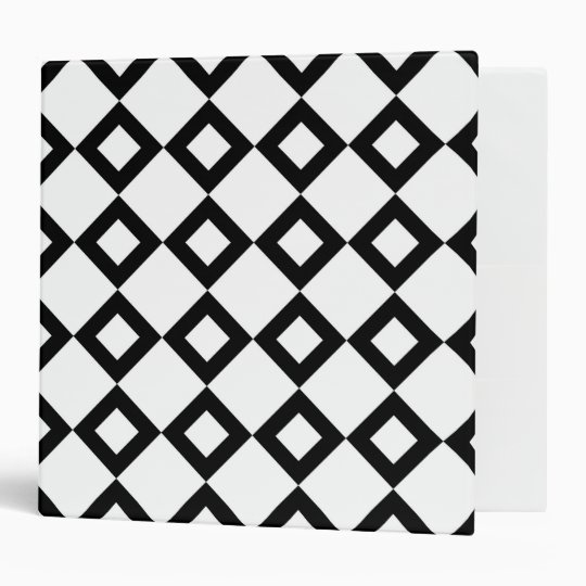 White and Black Diamond Pattern Binder