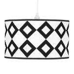 White and Black Diamond Pattern Lamp