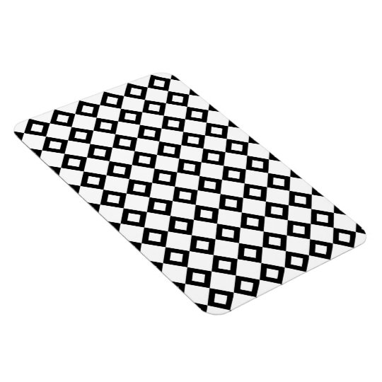 White and Black Diamond Pattern Magnet