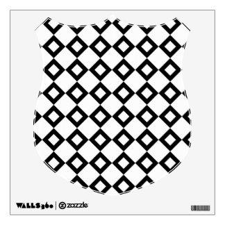White and Black Diamond Pattern Wall Sticker