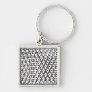 White and Black Diamonds Keychain