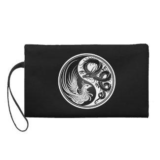White and Black Dragon Phoenix Yin Yang Wristlets