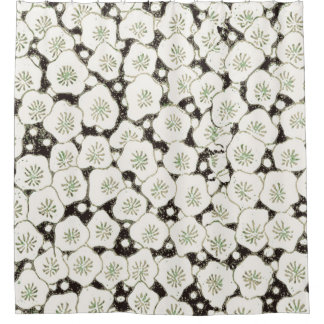 Asian Flower Shower Curtains Zazzle - Black and white flower shower curtain