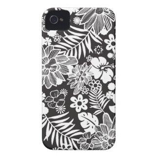 White and black flowers stylish blackberry bold blackberry bold case