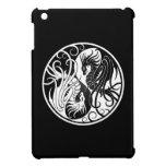 White and Black Flying Yin Yang Dragons iPad Mini Covers