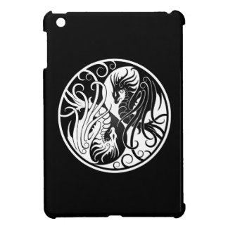 White and Black Flying Yin Yang Dragons iPad Mini Covers