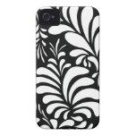 White and black foliage stylish iphone 4 casemate iPhone 4 Case-Mate case